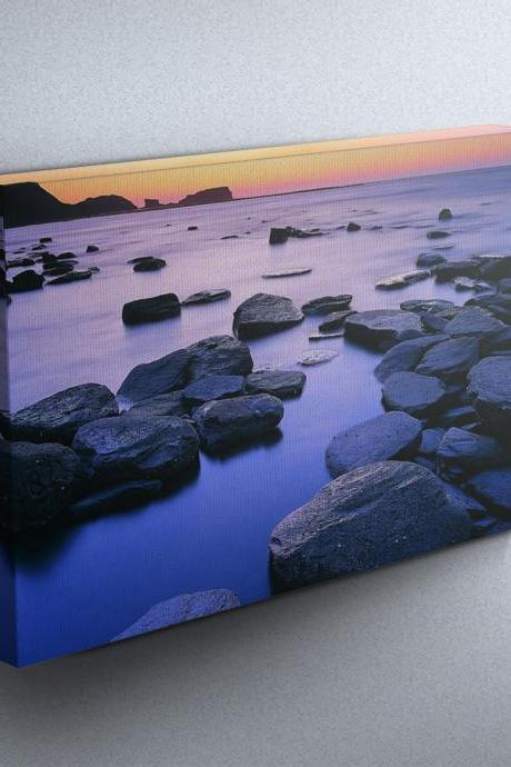 Sunset over Saltwick Bay - Fine Art Photograph on Gallery Wrapped Canvas - 16x12' & more