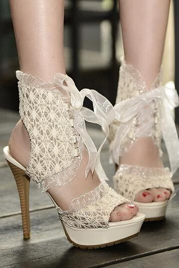 Summer fashion lace high-heeled sandals SS05261SH