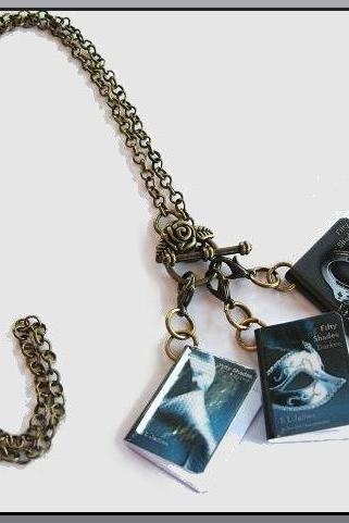 Sexy Miniature Book Charms Necklace