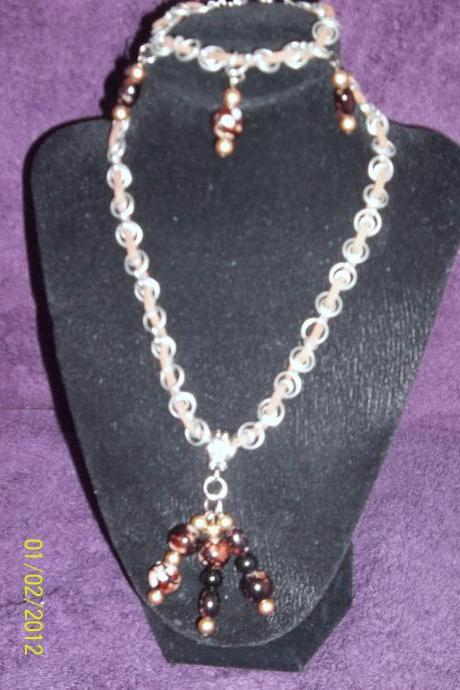 Leather and Chains Necklace