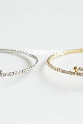 Cz cross bangle bracelet,B349R