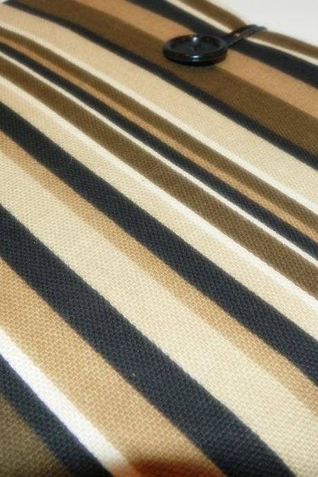 iPad 1, iPad 2 Cover/Sleeve - Black and Brown Stripes, Manly, Male colors