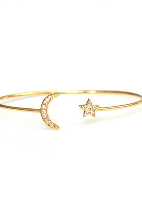 Goodnight Star and Moon Bangle