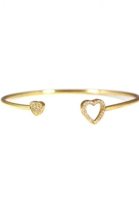 Pave Hearts Bangle