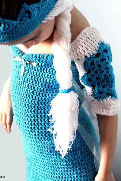 Crochet Patterns Ice Queen Dress and Crown
