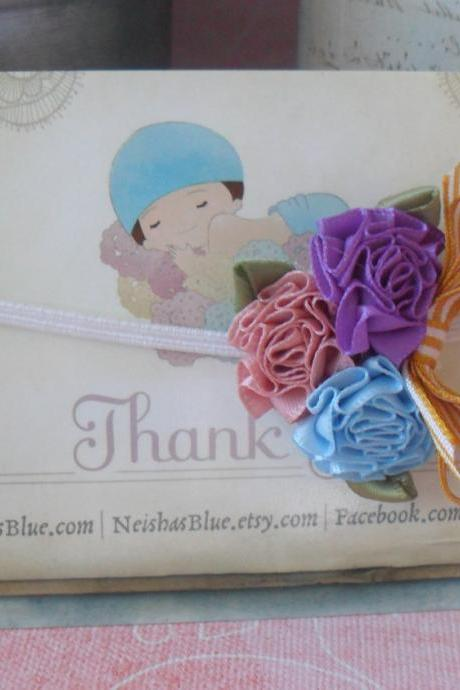 Headbands, Baby Flower Headband, Newborn Flower Headband, Satin Rose Bloom, Pick Colors
