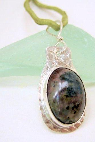 Pendant - Sterling Moss Agate