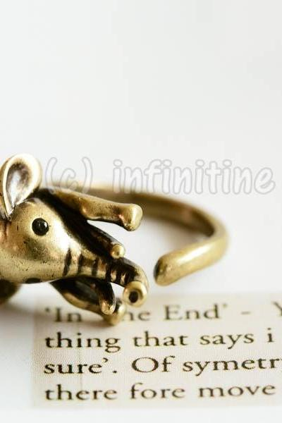 Gold Vintage elephant ring,RN2596