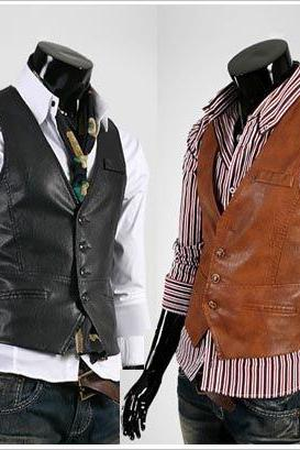 MEN'S LEATHER WESTERN VEST