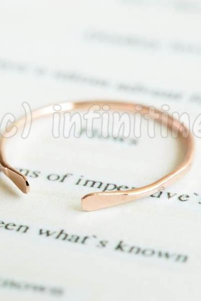 Rose gold Hammered shell stacking ring,RN2602
