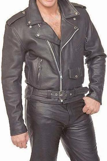 Handmade Classic Leather Motorcycle Jacket for Men