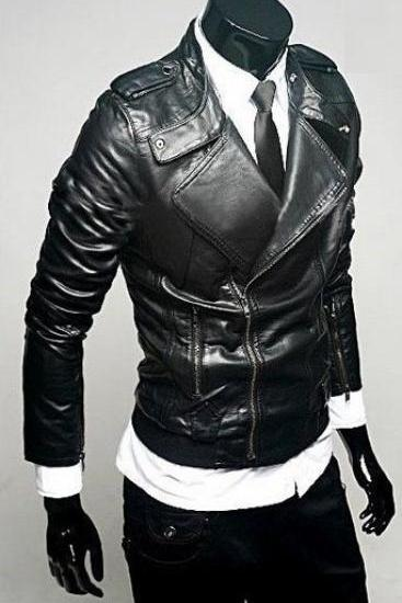 Hot Black Leather Bomber jackets
