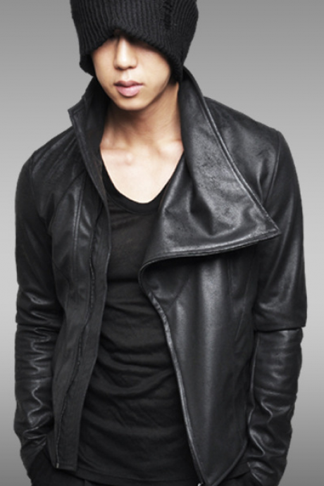 CLASSIC BLACK RICK OWENS LEATHER BIKER JACKET