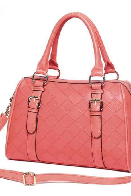 Nice Pink Embossed Handbag & Shoulder Bag
