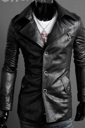 MEN LEATHER COAT/JACKET, REAL LEATHER JACKETS MEN