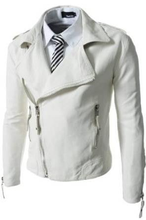 MEN BIKER LEATHER JACKET, WHITE LEATHER JACKET MEN'S