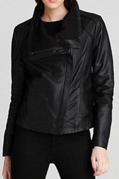 Womens leather jacket black, women biker jacket, real leather jackets