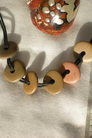 CENTRE DRILLED mediterranean beach pebbles from Spain.6 drilled rocks.Natural and smooth beads by Oceangifts. by Ocean gifts
