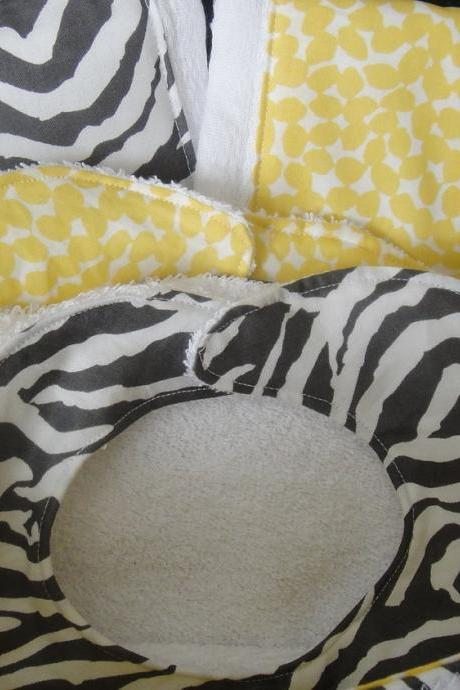 Baby Gift Basket Zebra Grey Yellow Gift Set