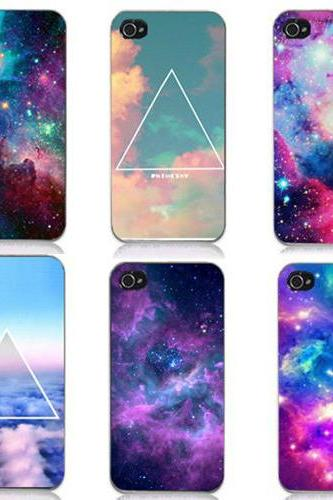 S5Q New Galaxy Space Universe Snap On Hard Case Cover Protector For iPhone 4 4S