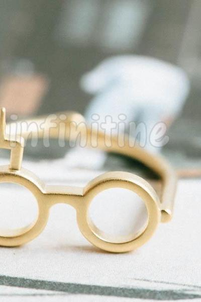 Gold Harry Potter glass ring,RN2600