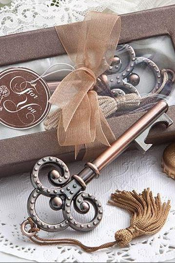 Wedding Favor Antique Style Key Bottle Opener In Gift Packaging 16 Pieces