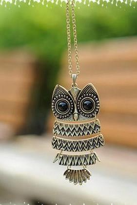 cute vintage Owl Necklace