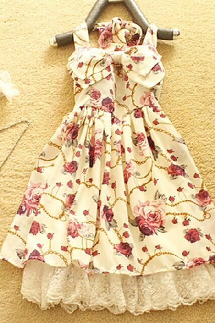 Floral Halter Dress DG61411