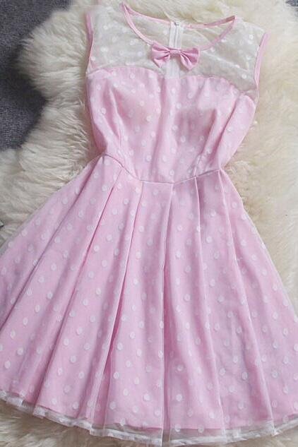 Polka Dot Bow Dress DG61413