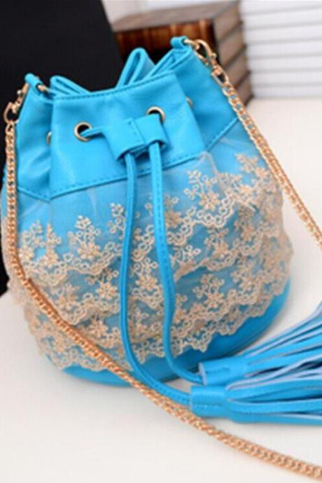 Fringed shoulder bag Messenger bag DG61419