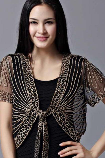 Black Bolero Black Blouse,Black Lace Shrugs Women Elegant Shrugs laces