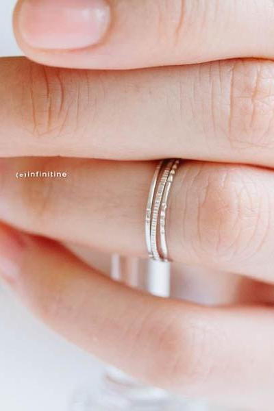Silver set of 3 inca thread knuckle rings,thread ring,stacking ring,stackable ring,stacked ring,mid ring,pinky ring,jewelry ring,,R024N