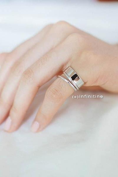 Silver Neoclassical mini open wire ring,,knuckle ring,adjustable rings,stretch rings,bridesmaid gift,bridesmaids ring,bridal ring,bridal gift,R104N