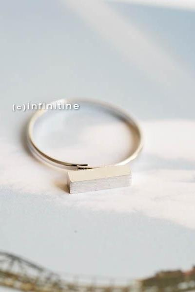 Adjustable Bar Ring- Gold, Silver
