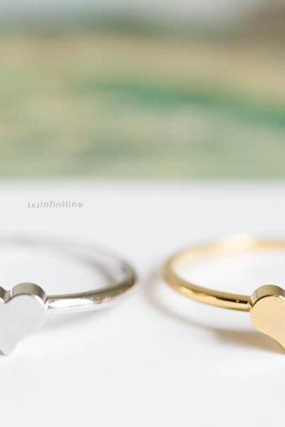 Silver heart mid knuckle rings/heart rings/knuckle ring/gold knuckle ring/pinky rings,R172N