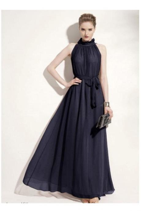 Sexy Chiffon Ruffled Neck Maxi Summer Dress - Available In S/M/L (6 Colors)
