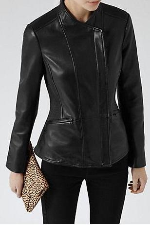 WOMEN'S LEATHER JACKET, WOMEN BLACK JACKETS