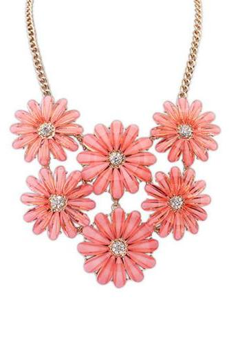Little Daisy delicate crystal choker luxury fashion short necklace free shipping