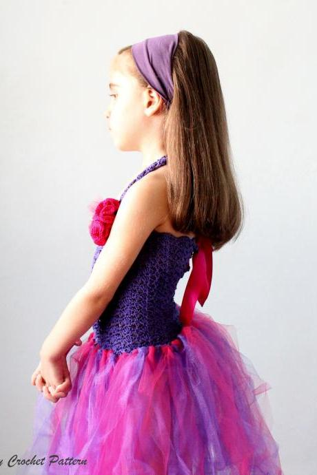 Crochet Pattern Tutu Dress Baby- Child Size, Crochet Tutu No Sew Dress Pattern