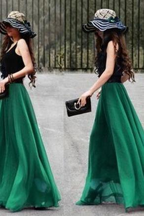 Fashionable Summer Chiffon Dresses, Chic Skirt, Skirts, Summer Skirt
