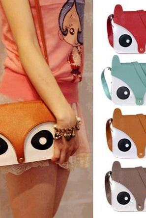Sweet and cute cartoon fox shoulder bag over Meng BACEG
