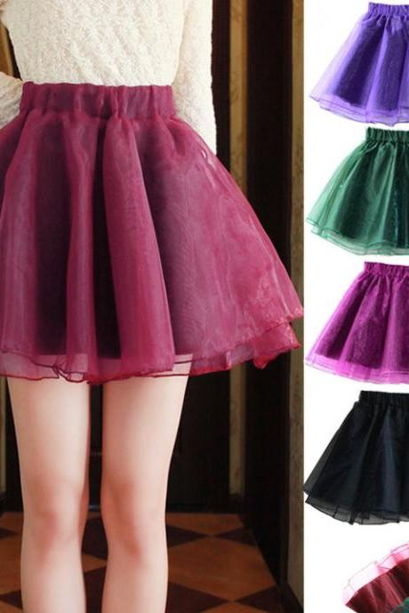 High waist Slim organza skirts HT625EC