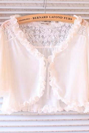 Lace shirt cape cloak