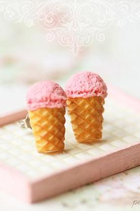 Dessert Earrings - Ice Cream Earrings Stud