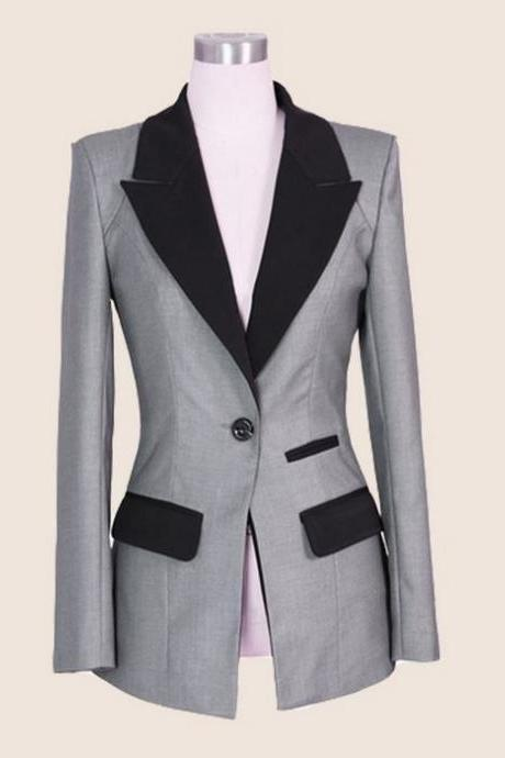 Gray Blazers for Women Fashion Gray Jackets