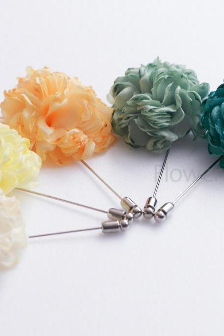 ESTHER- 3Pieces of Esther flower lapel pins-Boutonniere/Buttonhole for wedding,Lapel pin,hat pin,tie pin