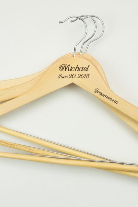Personalized Engraved Wedding Hanger / Gifts for Bridal Shower / Bridal Party Names