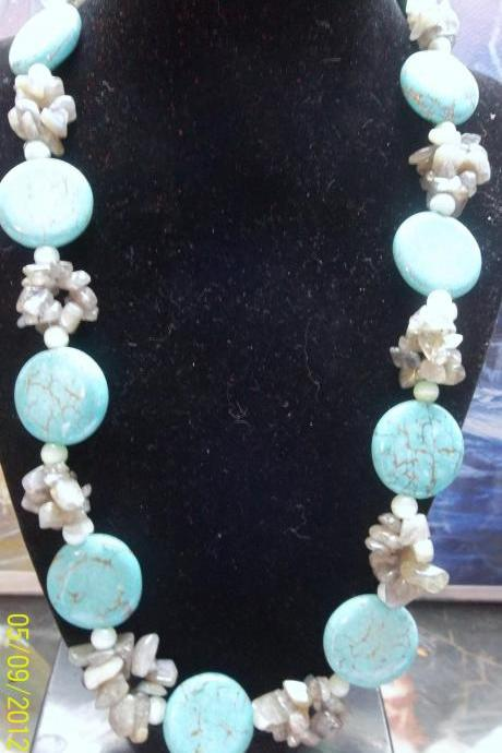 Turquoise and Florite Necklace ~ GORGEOUS!!