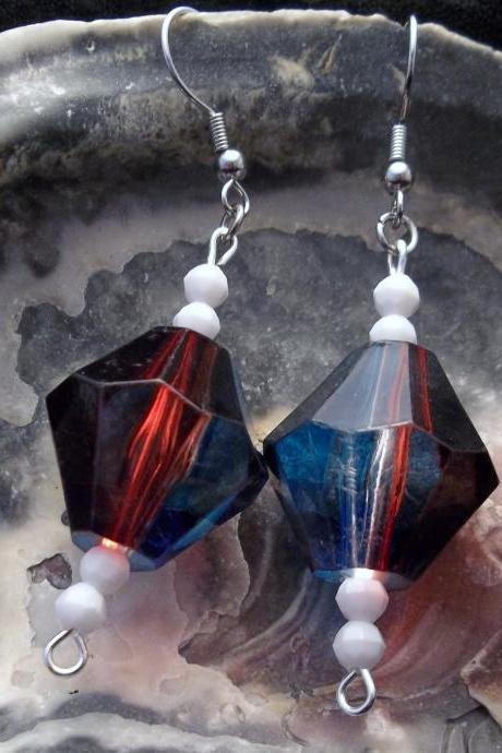Red, White, and Blue earrings