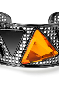 Flamboyant era bracelet Irregular geometrical patterns Exaggerated wild